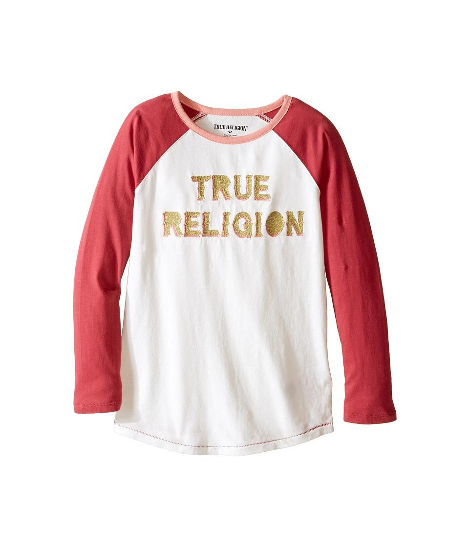 True Religion Kids - Long Sleeve Raglan Tee Shirt (Toddler/Little Kids) (Moonshine) Girl