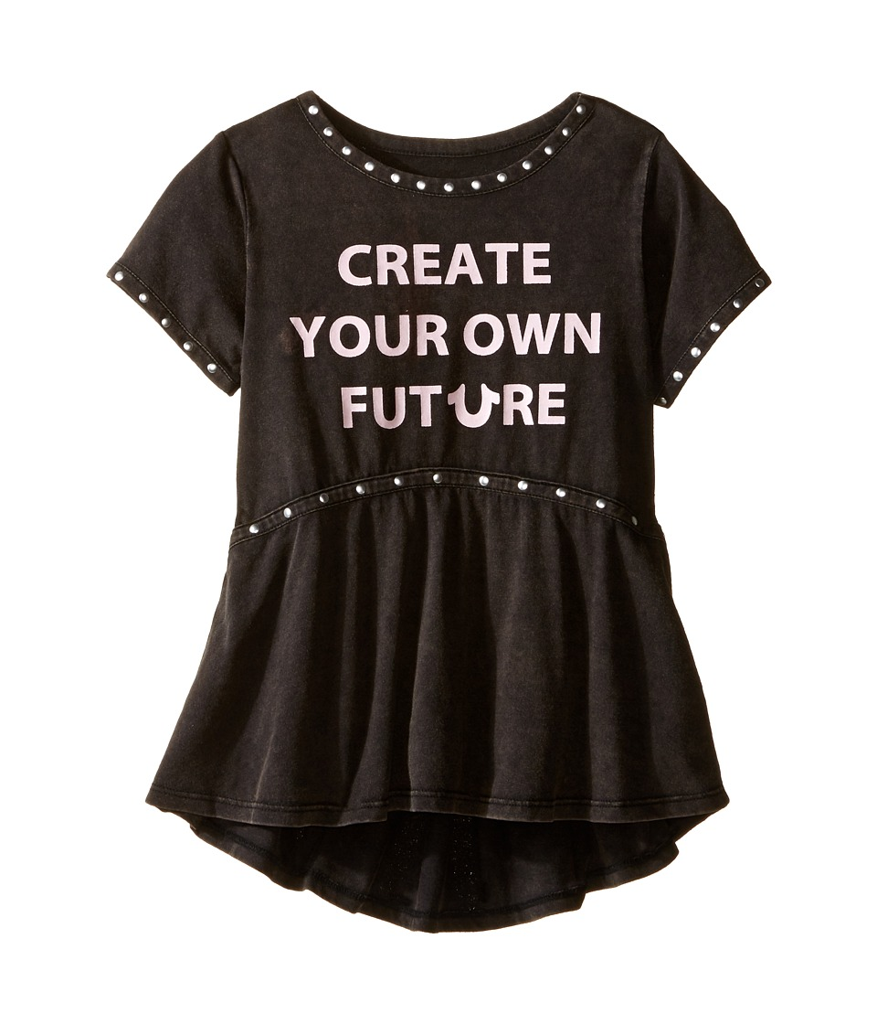 True Religion Kids Studded Future Tee Shirt (Toddler/Little Kids) (Black) Girl