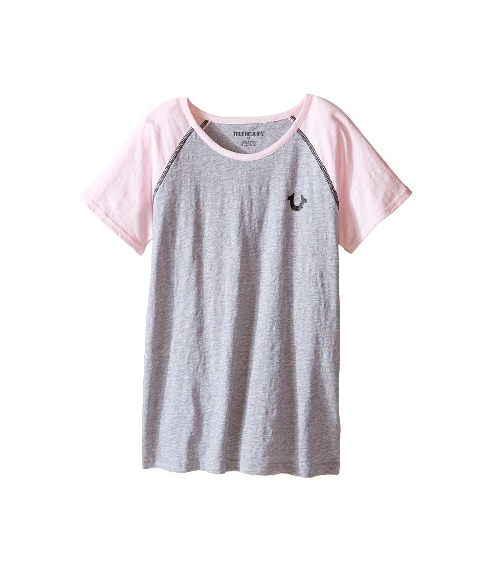 True Religion Kids - Branded Logo Tee Shirt (Little Kids/Big Kids) (Heather Gray) Girl