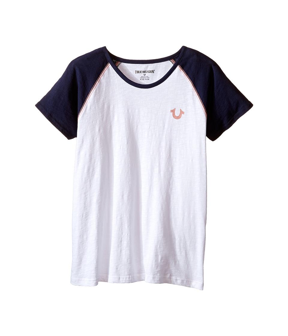 True Religion Kids - Branded Logo Tee Shirt (Little Kids/Big Kids) (White) Girl