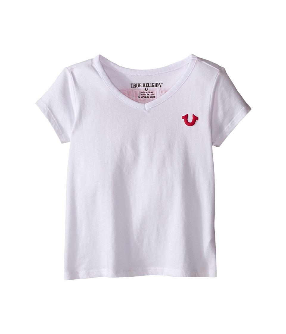 True Religion Kids - Branded Logo Tee Shirt (Infant) (White) Girl