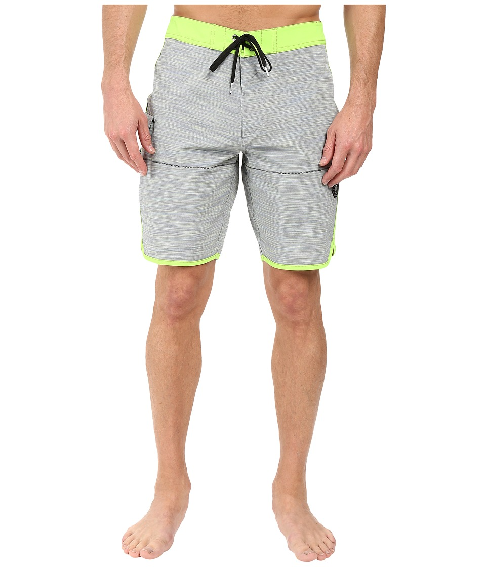VISSLA Spaced Diver 4-Way Stretch Space Dye Boardshorts 20 (Charcoal) Men