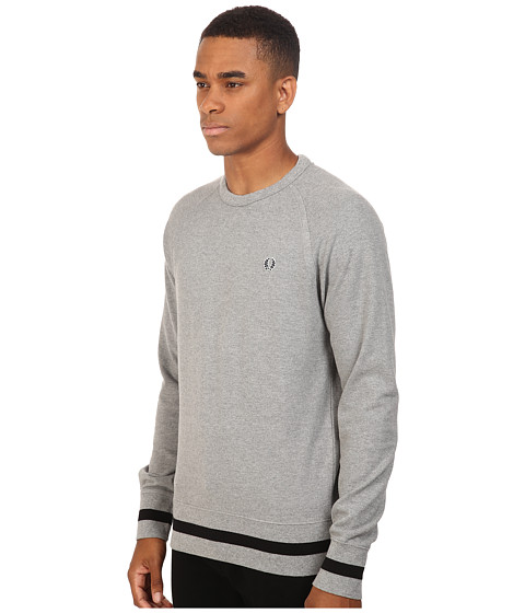 fred perry crew neck sweat. Black Bedroom Furniture Sets. Home Design Ideas