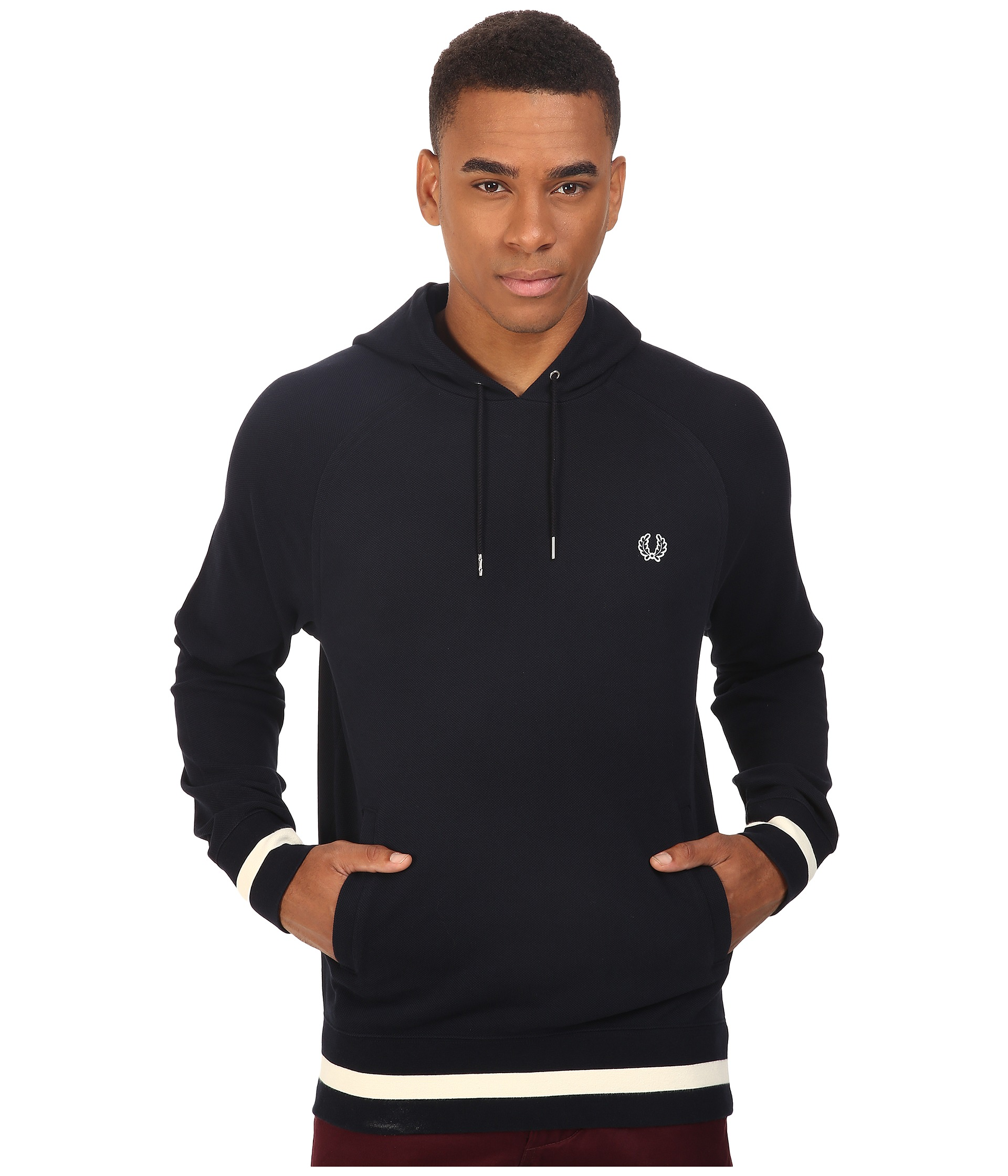 fred perry hooded sweat navy free shipping both ways. Black Bedroom Furniture Sets. Home Design Ideas