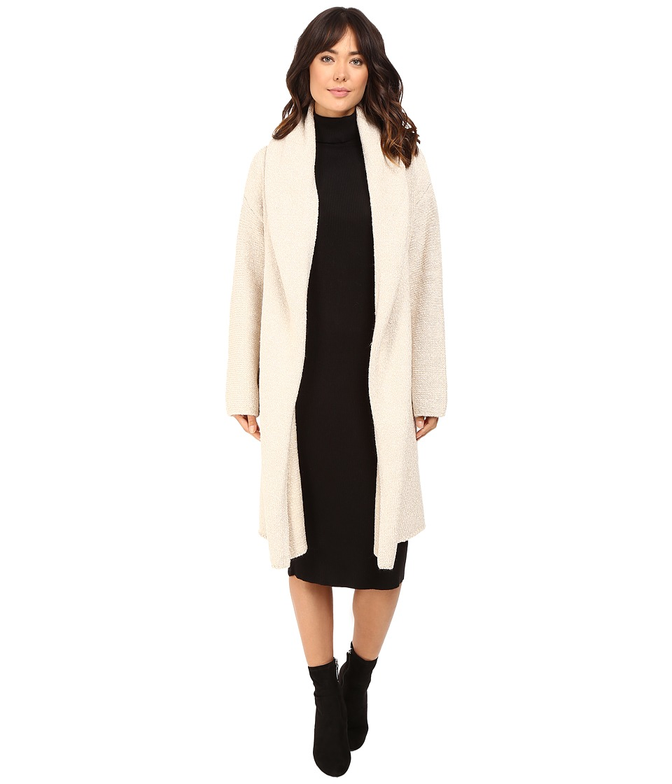 Brigitte Bailey - Luscious Car Coat (Heather Vanilla) Women's Coat plus size,  plus size fashion plus size appare