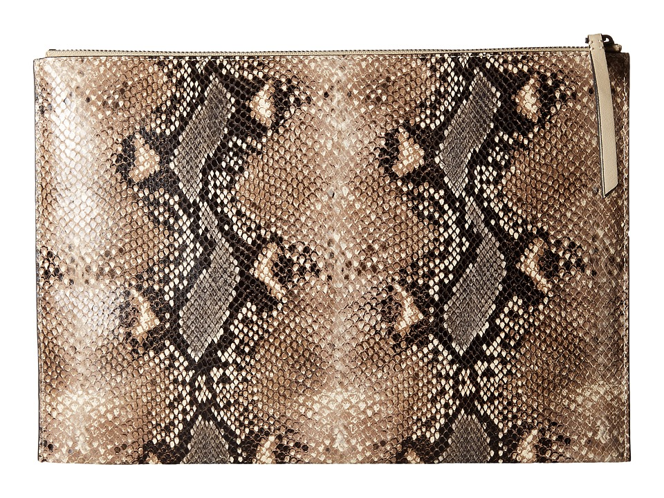 ECCO Sculptured Day Clutch (Panna/Sand) Clutch Handbags