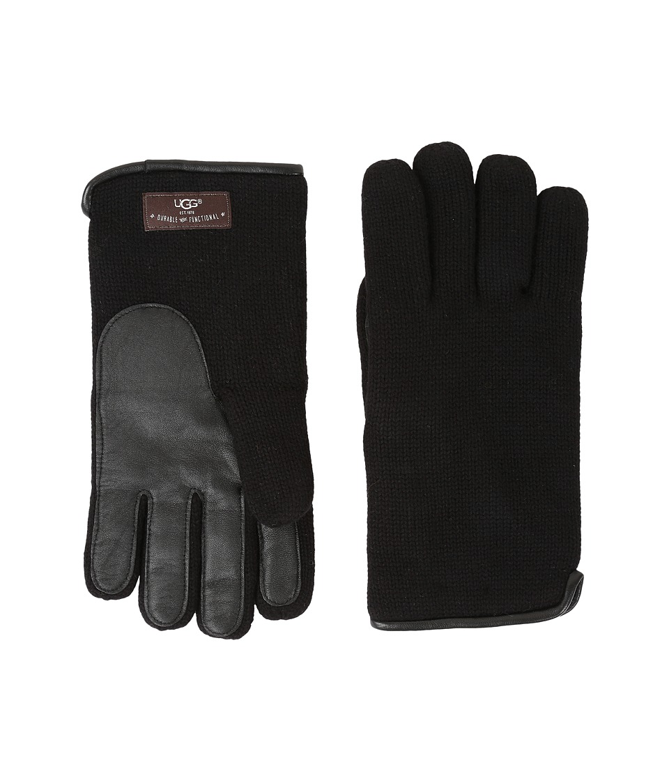UGG Knit Tech Solid Gloves (Black) Wool Gloves