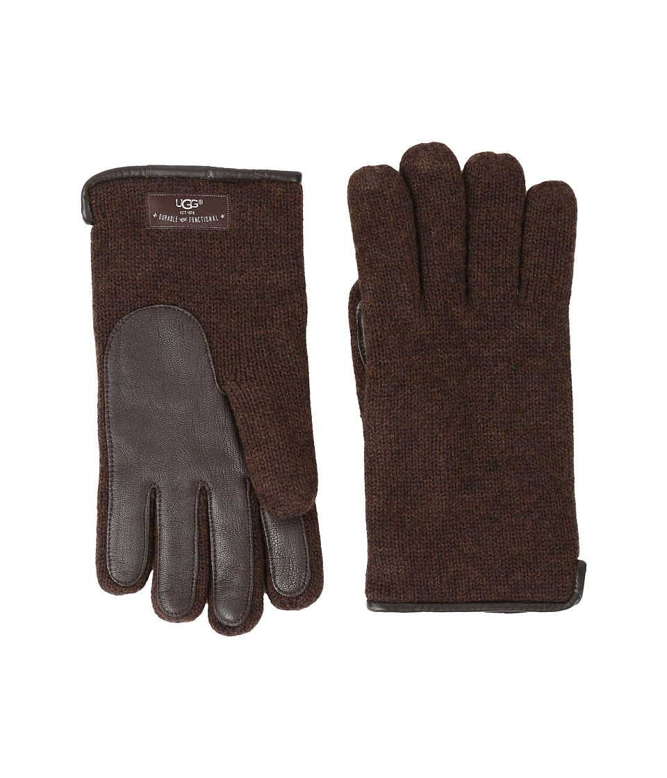 UGG Knit Tech Solid Gloves (Stout Heather) Wool Gloves