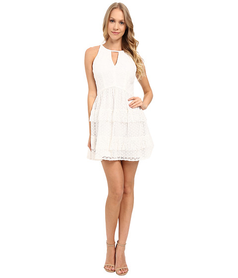 Adelyn Rae Lace Ruffle Dress