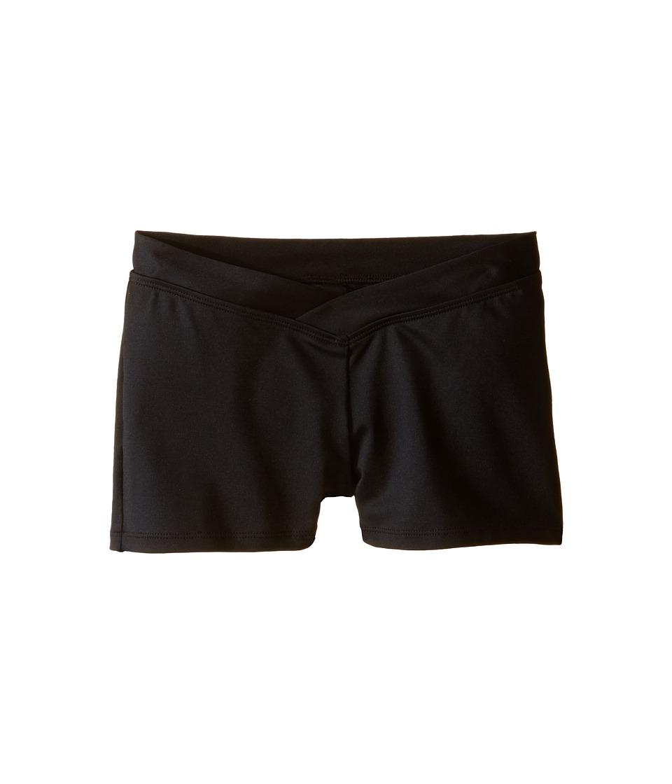 Bloch Kids - V-Waist Shorts (Little Kids/Big Kids) (Black) Girls Shorts