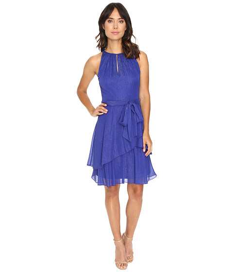 Tahari by ASL Keyhole Halter Neck w/ Tiered Skirt