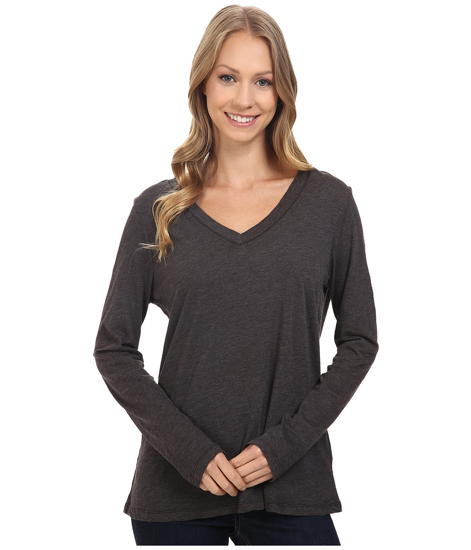 Dylan by True Grit - Gauzy Cotton Long Sleeve V