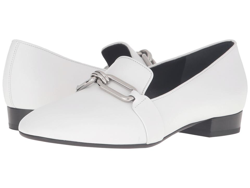 Michael Kors Lennox Loafer (Optic White Smooth Calf) Women