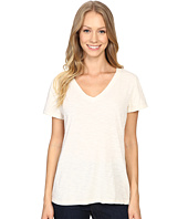 Dylan by True Grit - Gauzy Cotton Short Sleeve V-Neck Tee