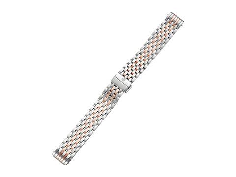 Michele 16mm Deco II Mid Bracelet - Two-Tone Rose Gold