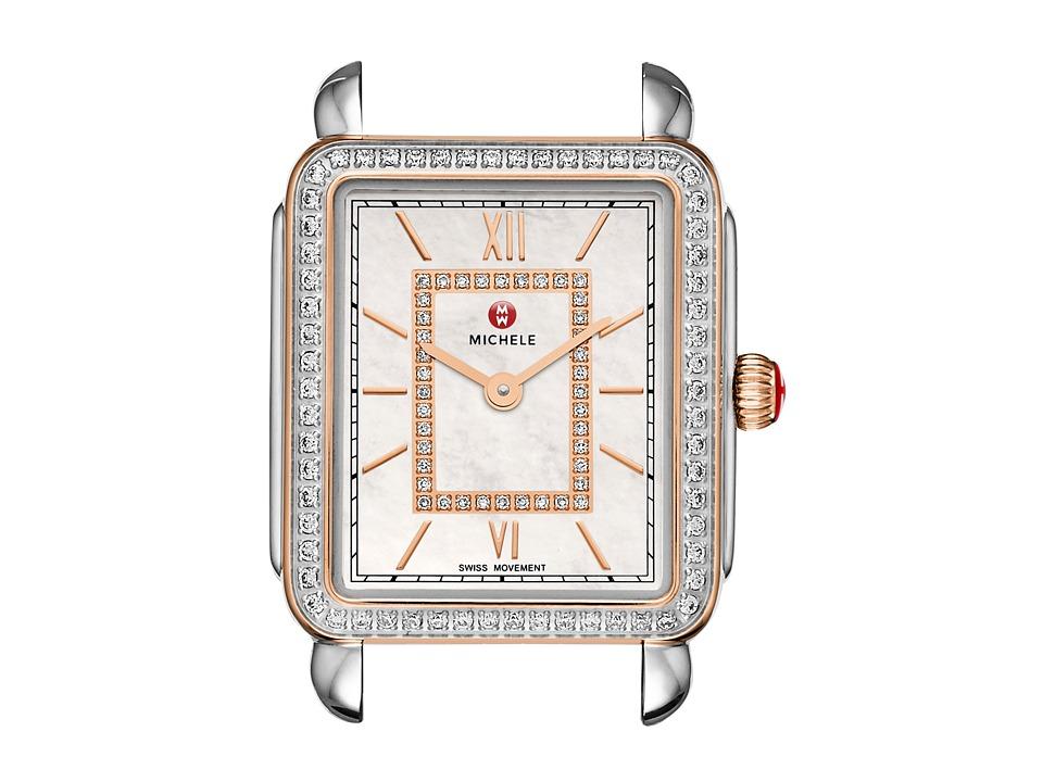 Michele - Deco II Mid Diamond Rose Gold Diamond Dial Watch