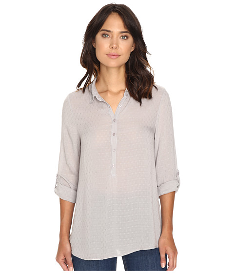 Dylan by True Grit Dobby Tunic with Roll Sleeves