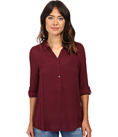 Dylan by True Grit - Dobby Tunic with Roll Sleeves