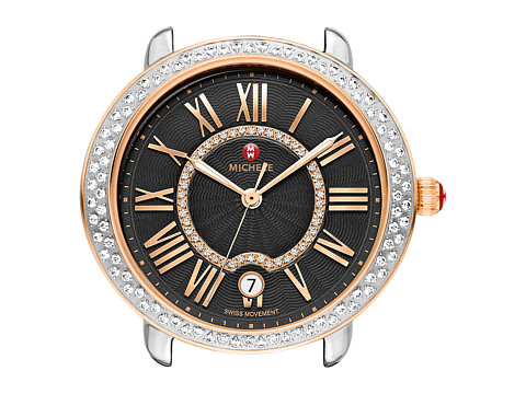 Michele Serein 16 Diamond Rose Gold, Diamond Dial Watch - Two-Tone/Black