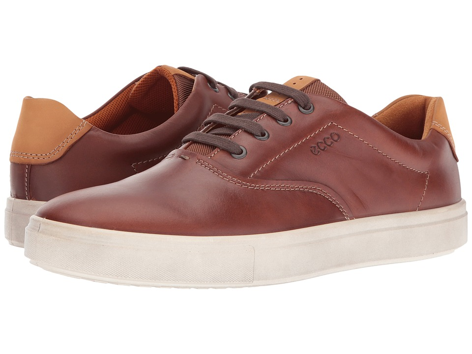 ECCO Kyle Retro Sneaker (Cognac/Lion) Men