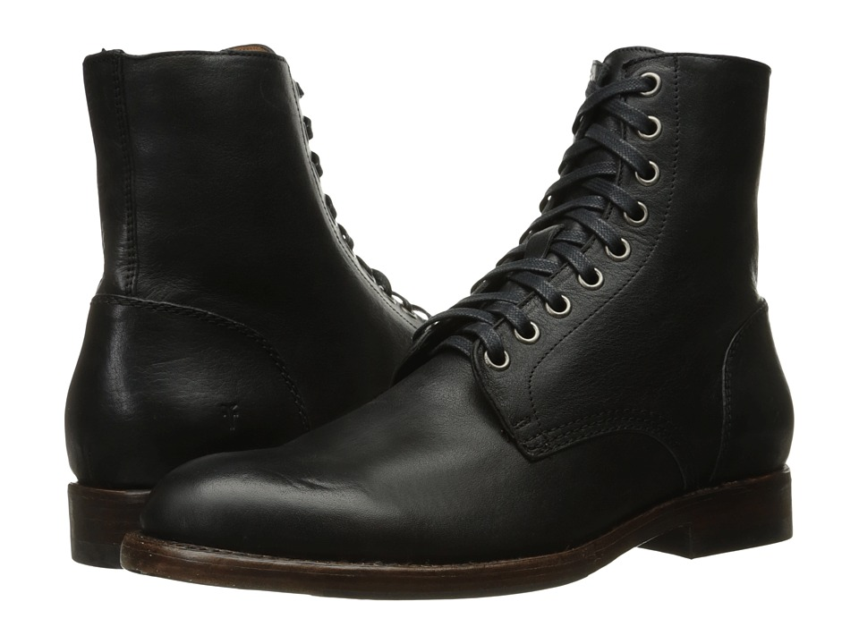 Steampunk Boots and Shoes for Men Frye - Will Lace Up Black Mens Lace-up Boots $358.00 AT vintagedancer.com