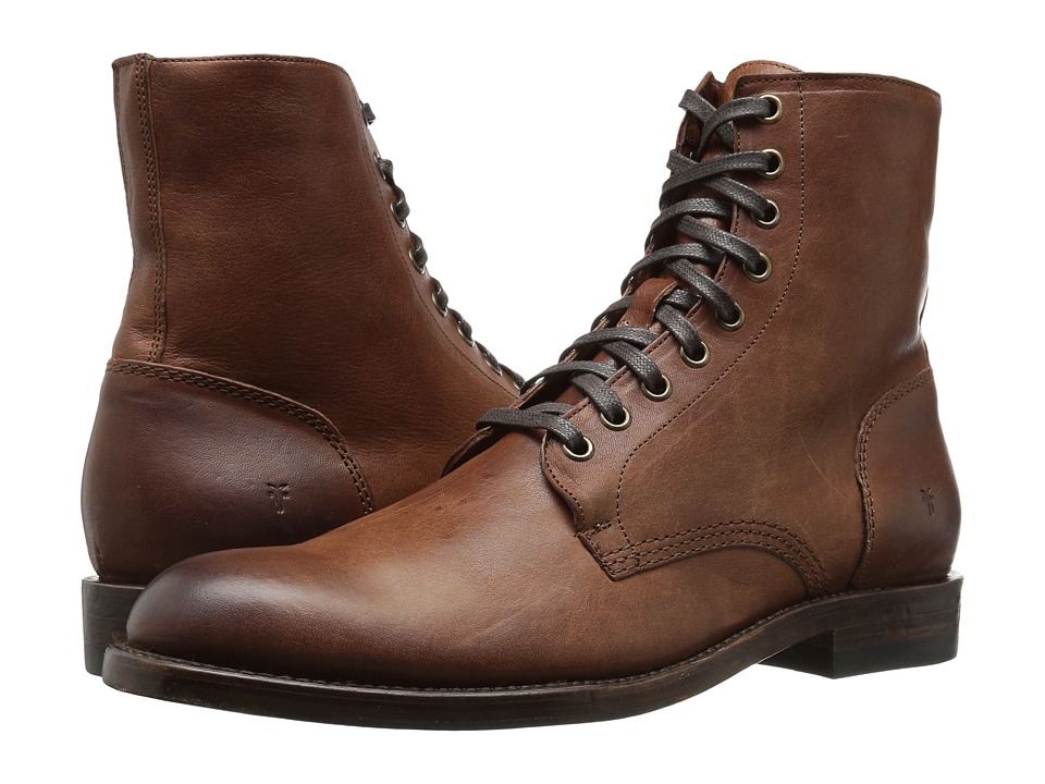 Steampunk Boots and Shoes for Men Frye - Will Lace Up Copper Mens Lace-up Boots $358.00 AT vintagedancer.com