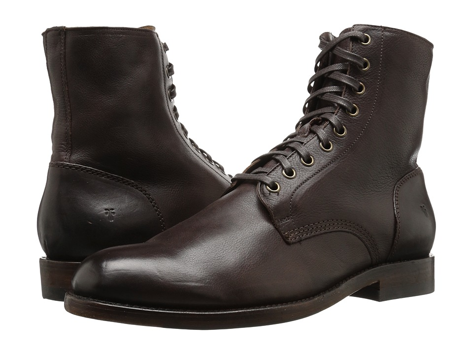 Steampunk Boots and Shoes for Men Frye - Will Lace Up Dark Brown Mens Lace-up Boots $358.00 AT vintagedancer.com