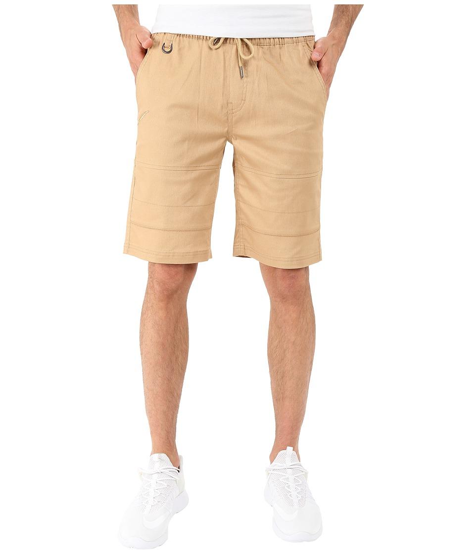 Publish Bain Stetch Twill Shorts Khaki Mens Shorts