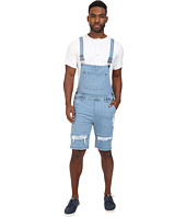 Publish - Fonso - Distressed Stretch Denim Overall Shorts