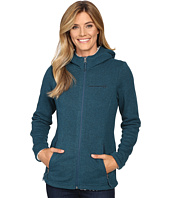 Free Country - Attached Hooded Sweater Fleece Jacket with Sherpa Trim