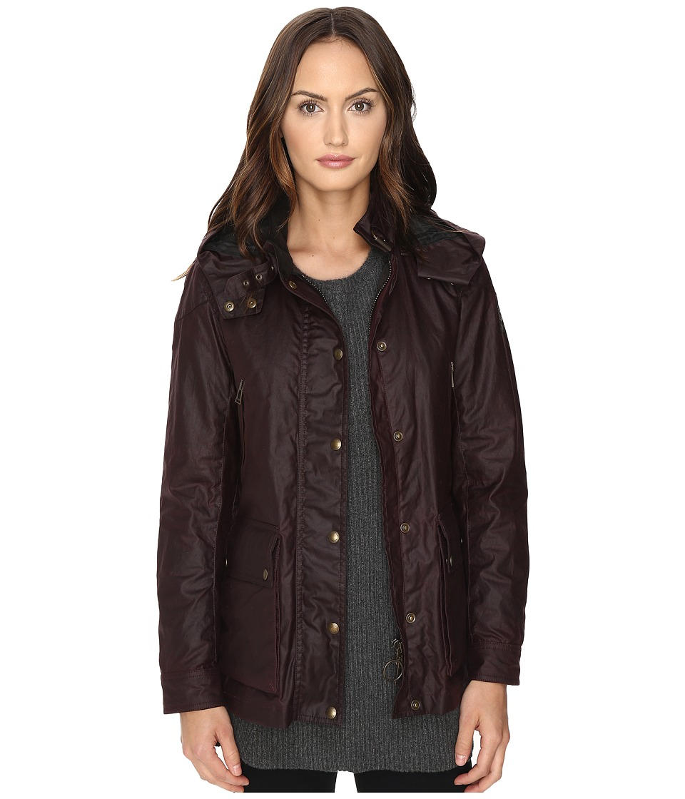 Image of BELSTAFF - New Tourmaster Signature 6 oz. Wax Cotton Coat (Rosewood) Women's Coat