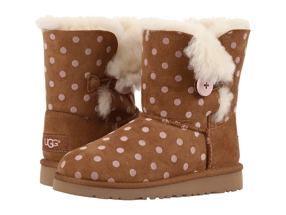 Ugg Kids - Bailey Button Polka Dot (Little Kid/Big Kid) (...