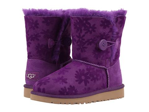 UGG Kids Bailey Button Flowers (Little Kid/Big Kid) - Purple