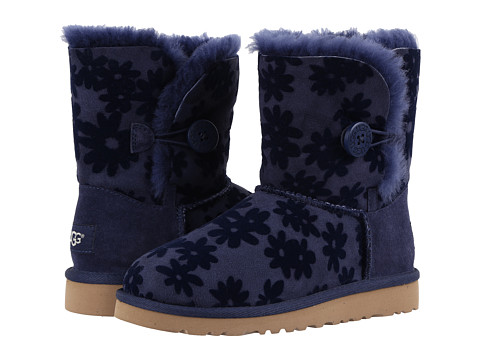 UGG Kids Bailey Button Flowers (Little Kid/Big Kid) - Navy