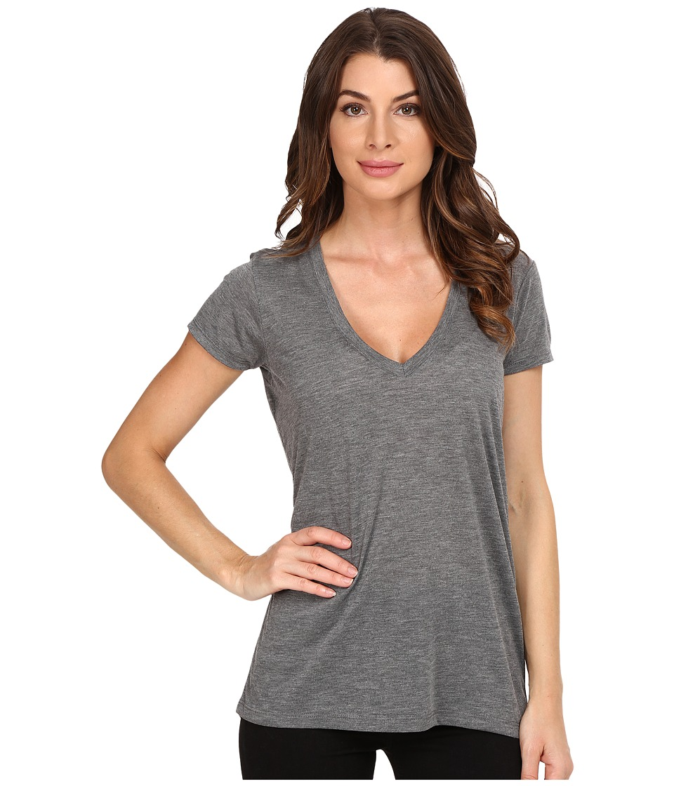 Alternative - Melange Burnout Jersey Slinky V-Neck
