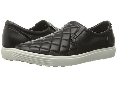 ECCO Soft 7 Quilted Slip-On - Black/Black 1