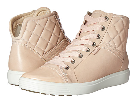 ECCO Soft 7 Quilted High Top - Rose Dust/Rose Dust