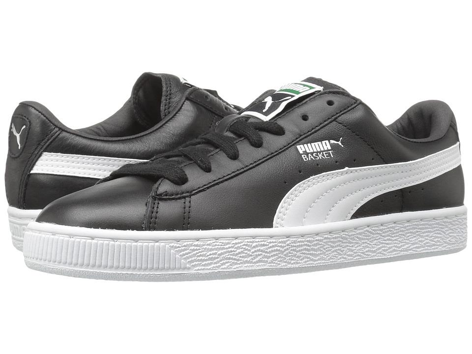 PUMA Basket Classic LFS (Black/White) Men's Shoes