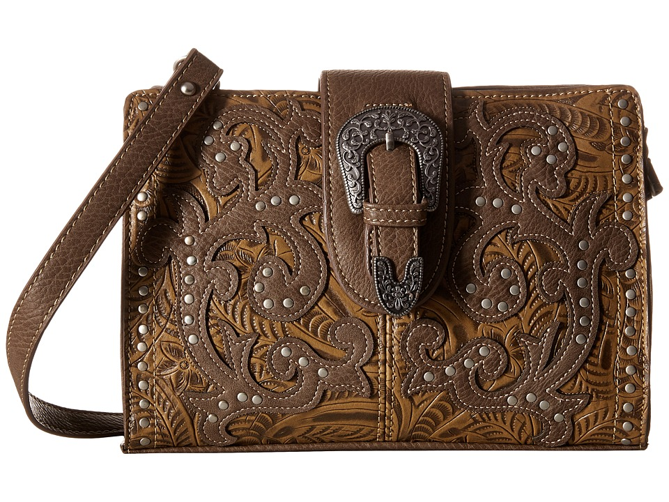American West - Laramie Shoulder Bag/Clutch (Sage) Shoulder Handbags