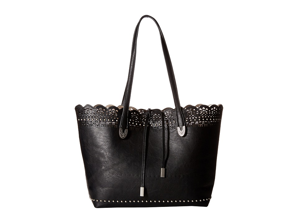 American West Darlington Filigree Day Tote Black Tote Handbags