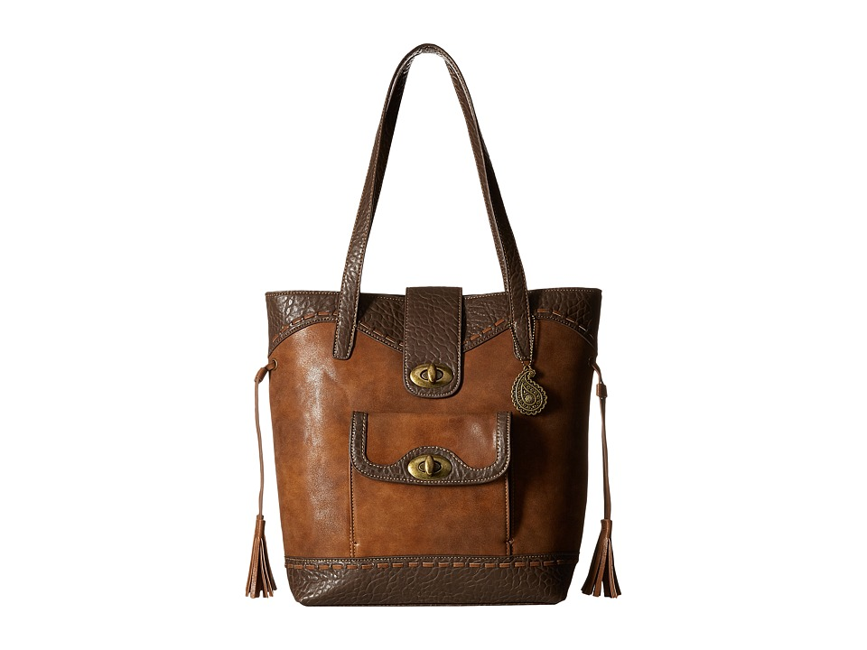 American West - Guns And Roses Bucket Tote (Golden Tan) Tote Handbags