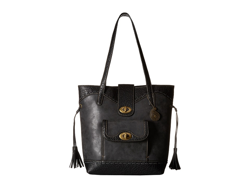 American West - Guns And Roses Bucket Tote (Charcoal) Tote Handbags