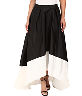 Adrianna Papell - High-Low Color Block Taffeta Skirt