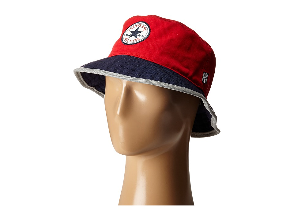 Converse Core Blocked Bucket Hat Red/Navy/Heather Grey Bucket Caps