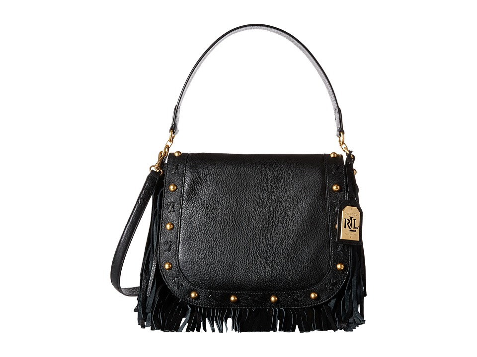 LAUREN Ralph Lauren - Layla Crossbody (Black) Cross Body Handbags