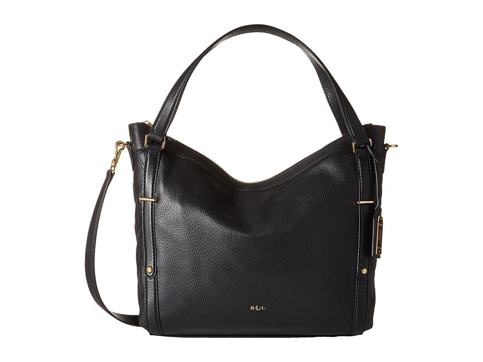 LAUREN Ralph Lauren - Felicity Hobo (Black) Hobo Handbags