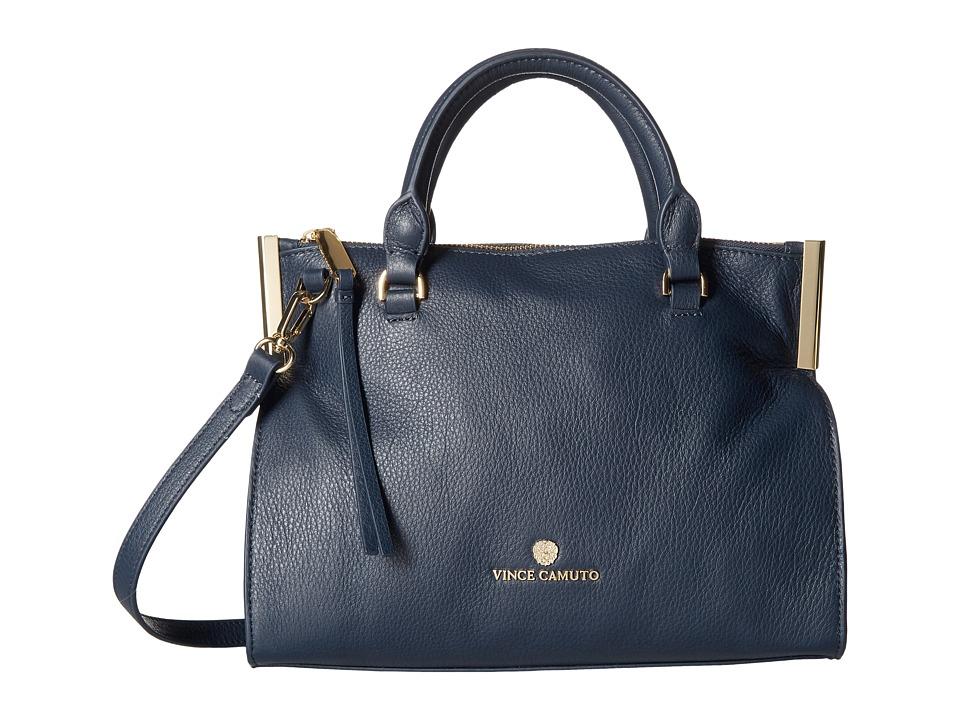 Vince Camuto - Tina Small Satchel (Dress Blue) Satchel Handbags