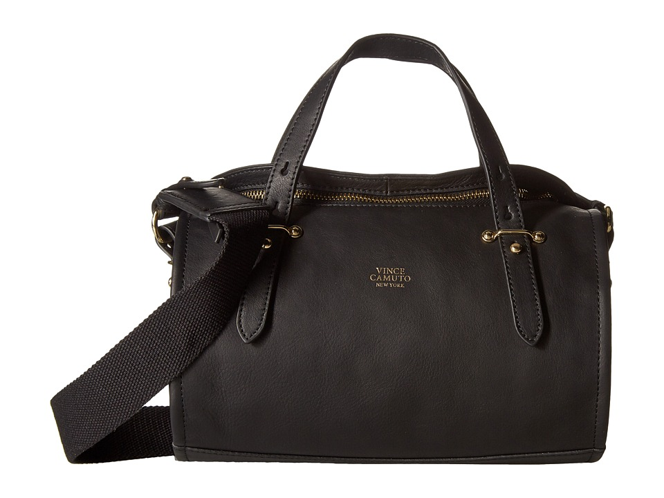Vince Camuto - Cass Small Satchel (Black/Black) Satchel Handbags