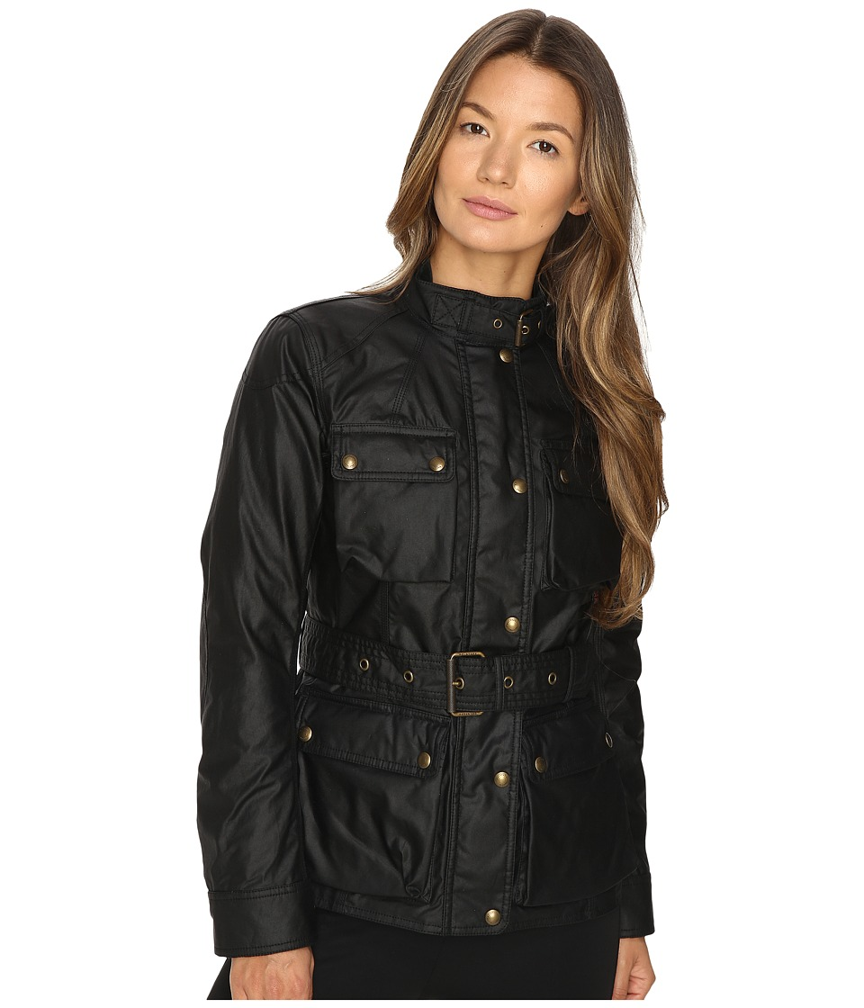 BELSTAFF - Roadmaster 2.0 Signature 6 oz. Wax Cotton Jacket (Black) Womens Coat
