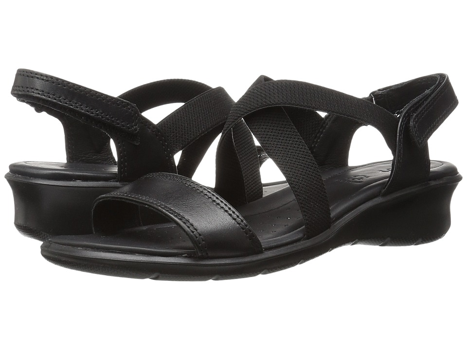 ECCO Felicia Casual Sandal (Black Cow Leather) Women